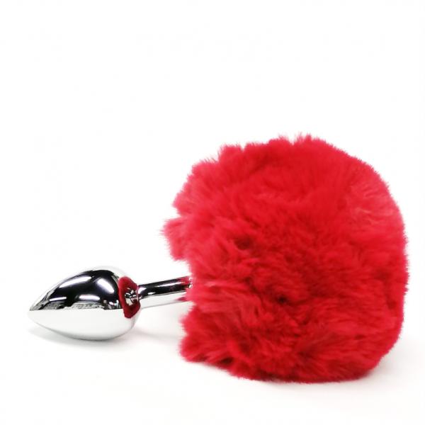plug-anal-metalico-pequeno-con-cola-roja-de-conejo